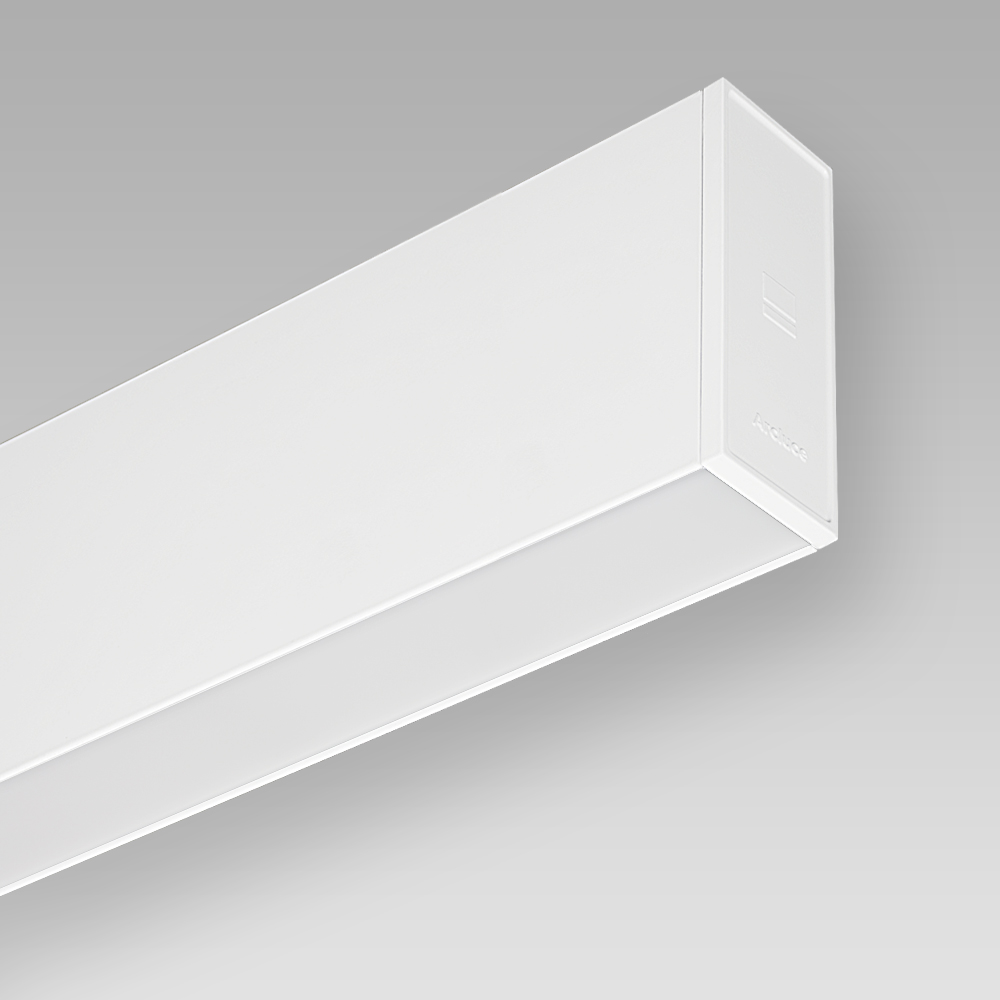 Wandein - und Anbauleuchten Wall-mounted luminaire with an elegant linear design for indoor lighting, with direct/indirect optic for a diffused lighting