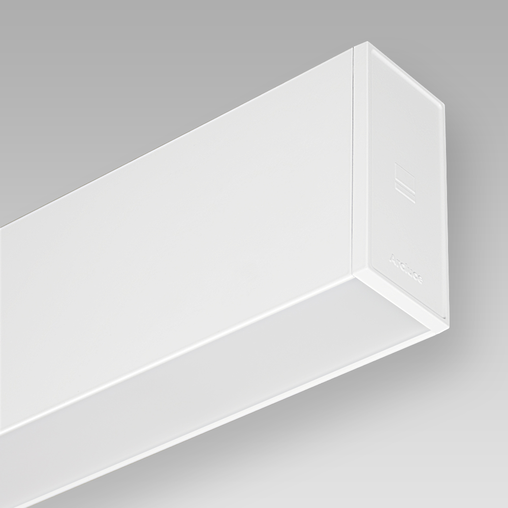 Wandein - und Anbauleuchten Wall-mounted luminaire with sophisticated design for direct and indirect illumination, with a comfortable light