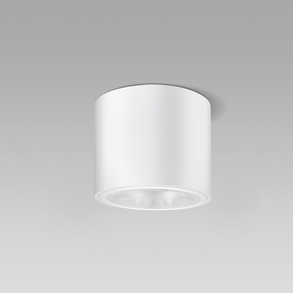 Appareils a plafond  Ceiling-mounted or suspended luminaire with cylindrical shape, for a high visual comfort indoor lighting
