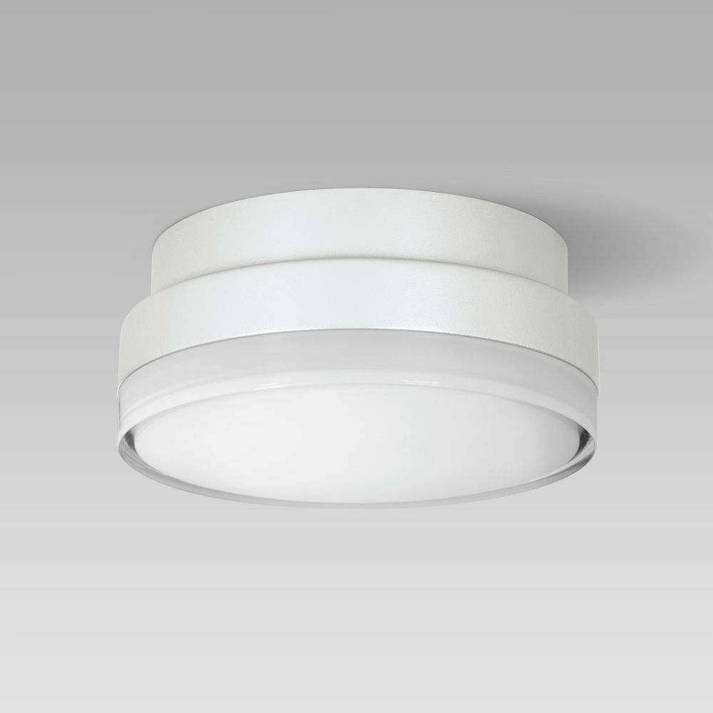 Luminaire encastré et encastré mural  Compact-size and resistant ceiling or wall-mounted luminaire for indoor and outdoor lighting