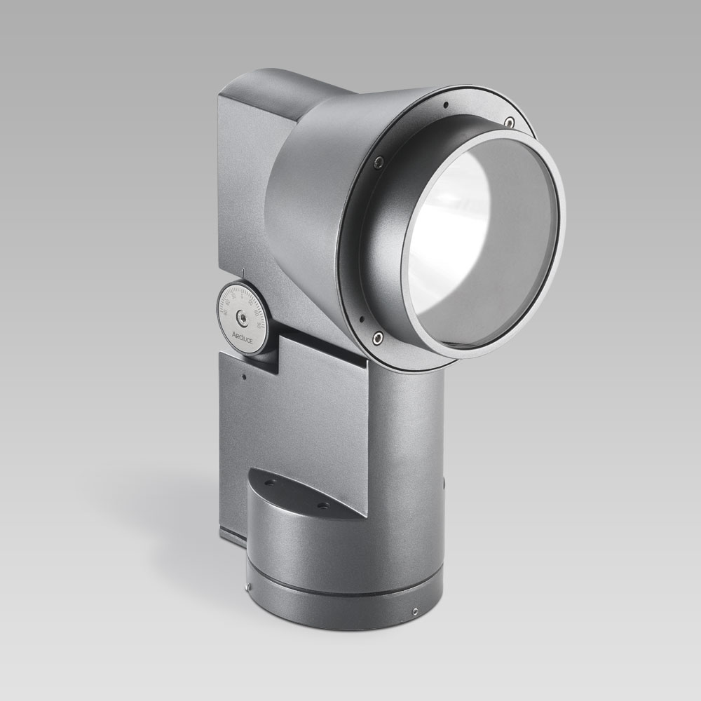 Outdoor floodlights  Floodlight for outdoor lighting DUEVENTI, adjustable and powerful, perfect for facade lighting and for architectural environments