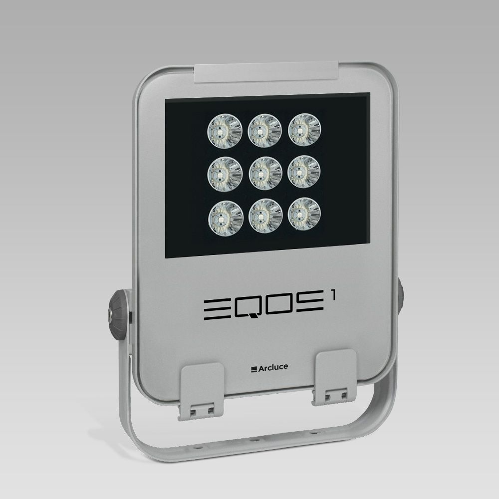 Outdoor floodlights  LED floodlight for outdoor lighting EQOS1, for professional use: modern design, excellent light output and energy efficiency