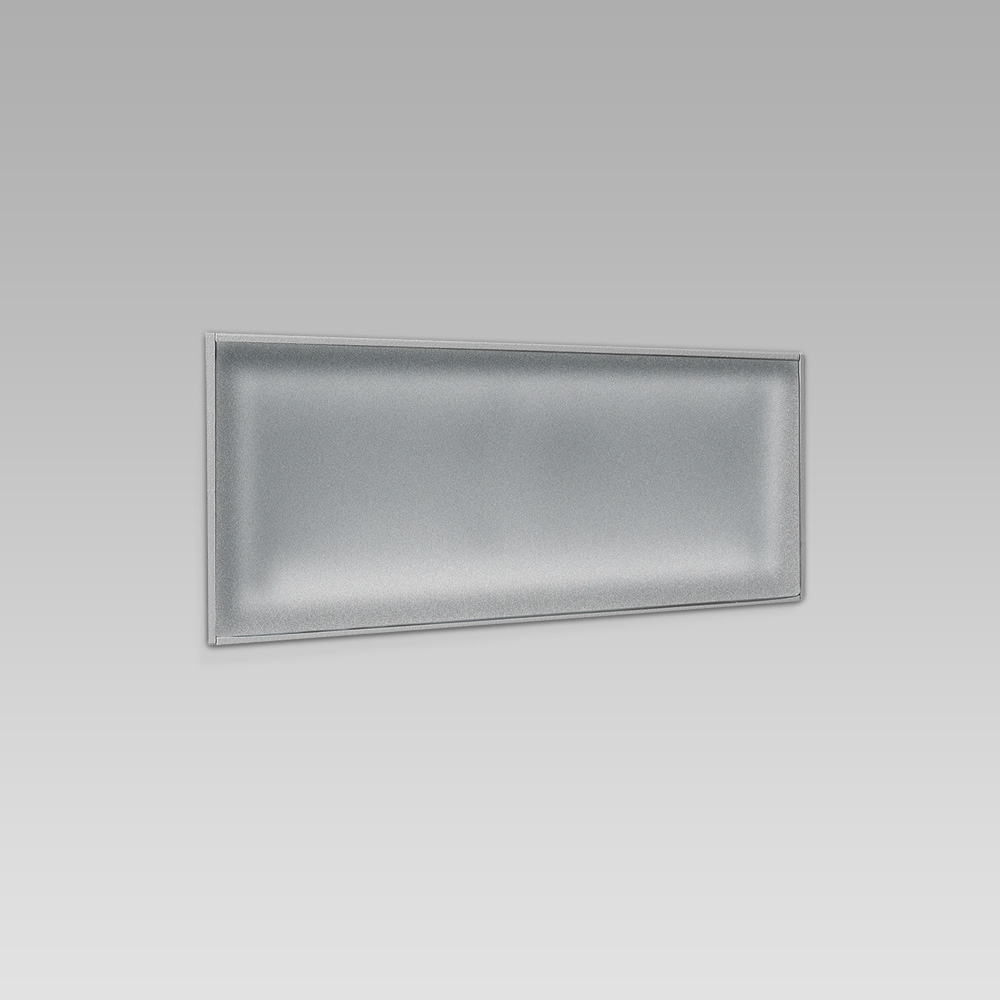 Recessed wall luminaires  Wall recessed steplight for functional lighting with linear design
