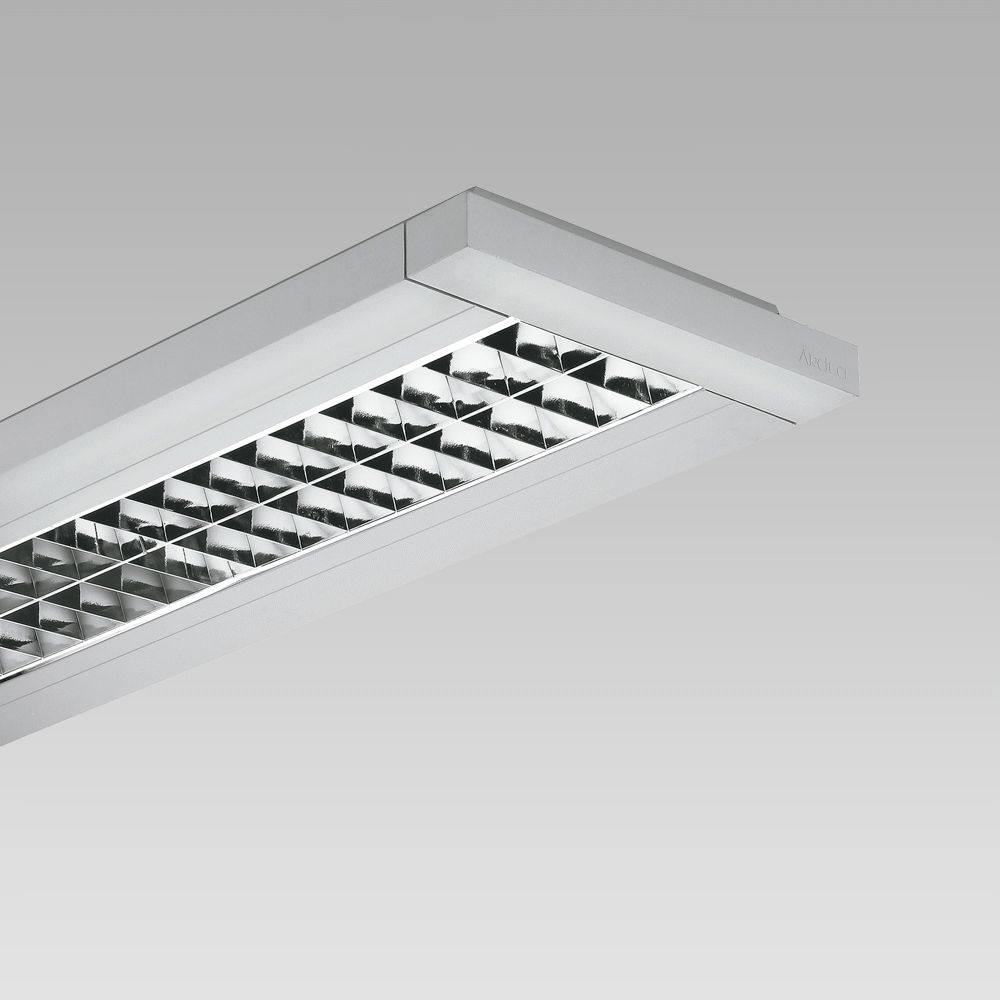 Appareils a plafond  Ceiling-mounted luminaire with linear design for indoor lighting