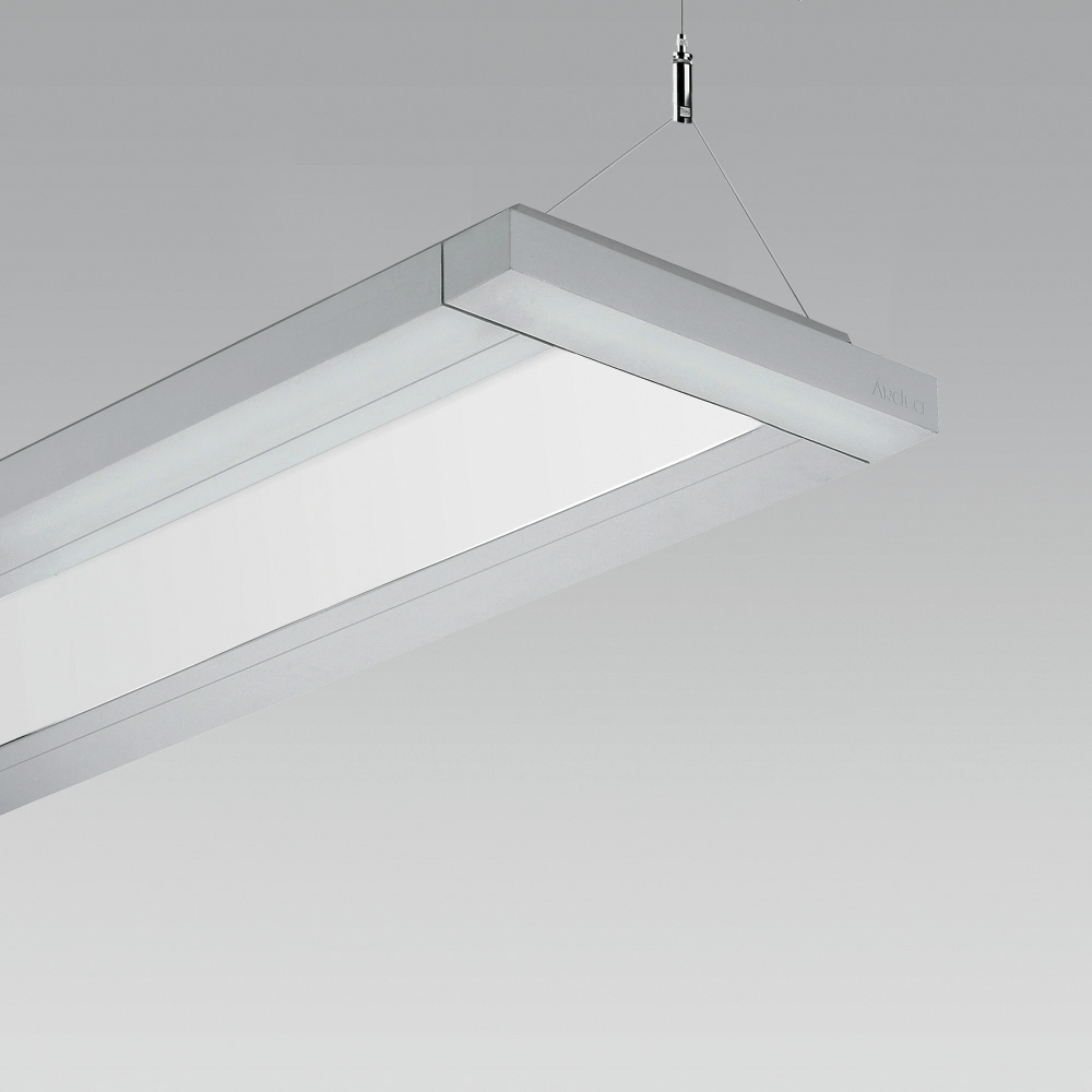 Linear suspended luminaire, also suitable for the creation of  modular lighting systems in indoor lighting