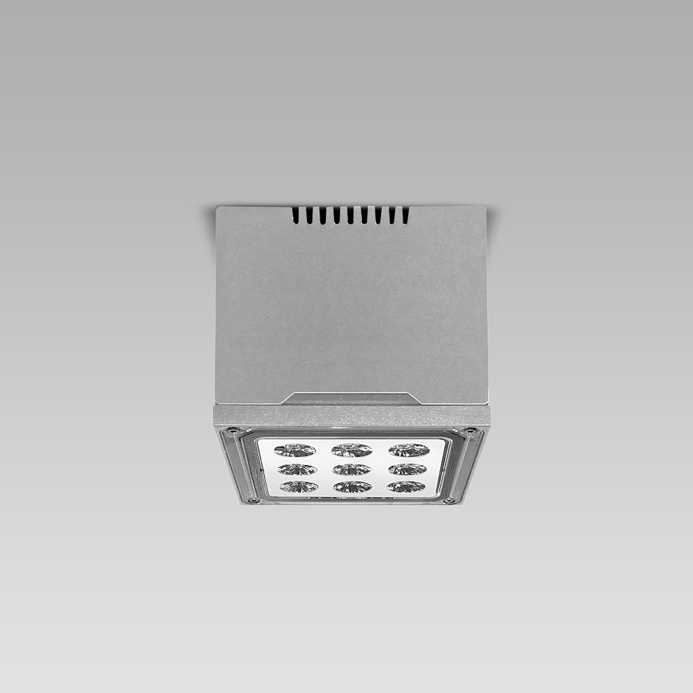 Éclairage de grands espaces  High-bay ceiling luminaire MOTO3 for indoor and outdoor lighting of large areas