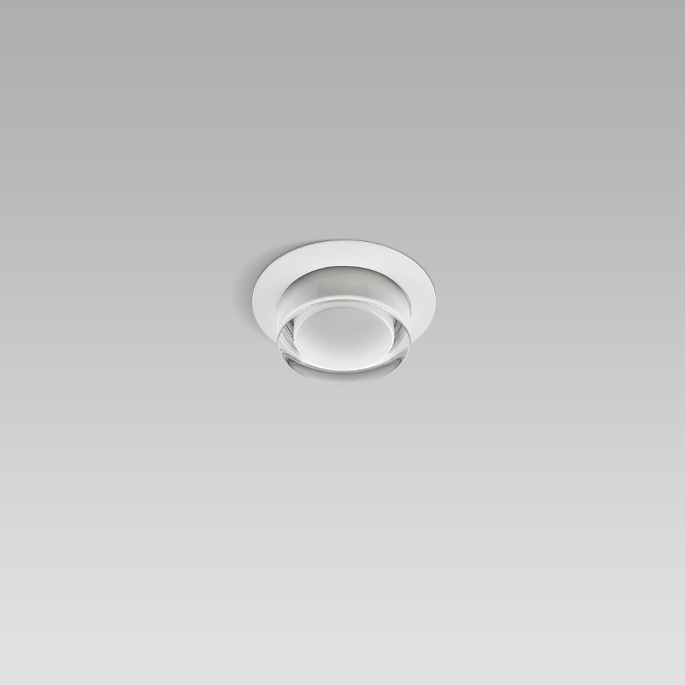 High protection degree recessed luminaires Ceiling or wall recessed luminaire for indoor and outdoor lighting, with small size and essetial design