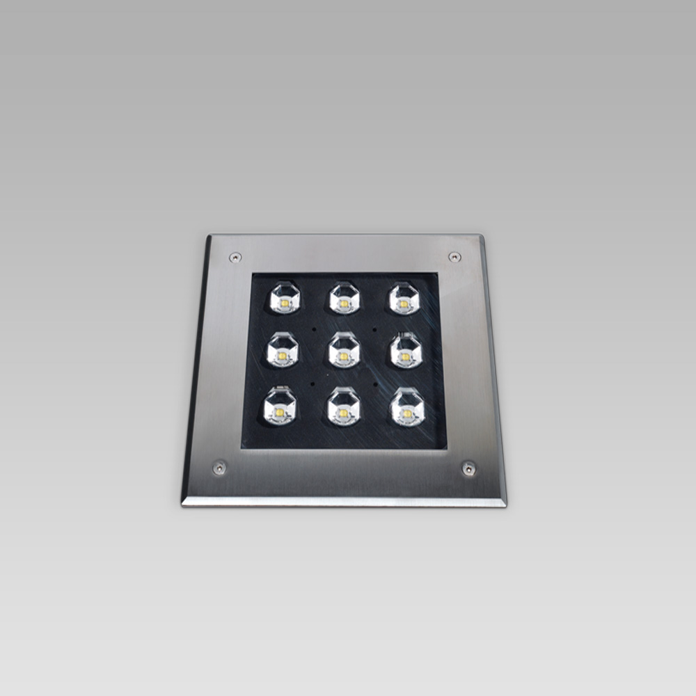 Recessed floor luminaires QUAD200 short