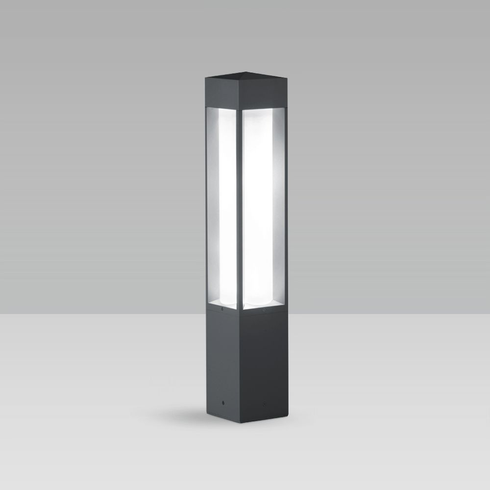 Bollard lights Bollard light for urban and residentail lighting with a squared, elegant design, featuring excellent lighting performance