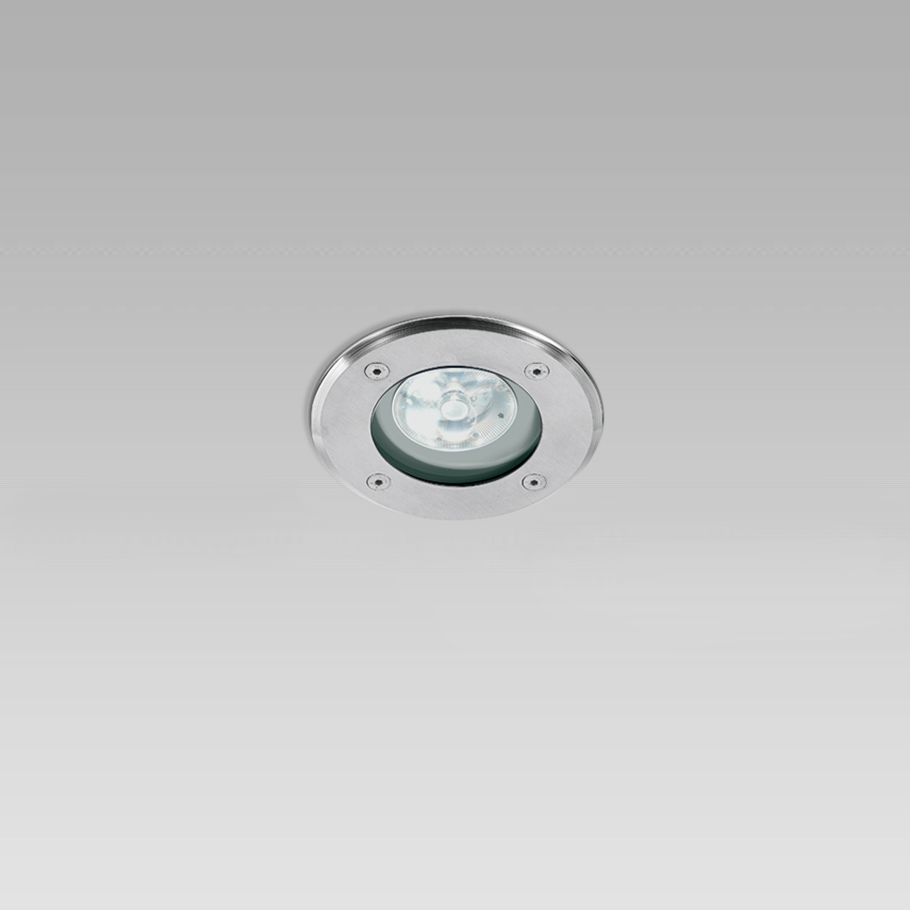 High protection degree recessed luminaires Ceiling recessed downlight with round or squared trim, elegant and provided with high protection degree