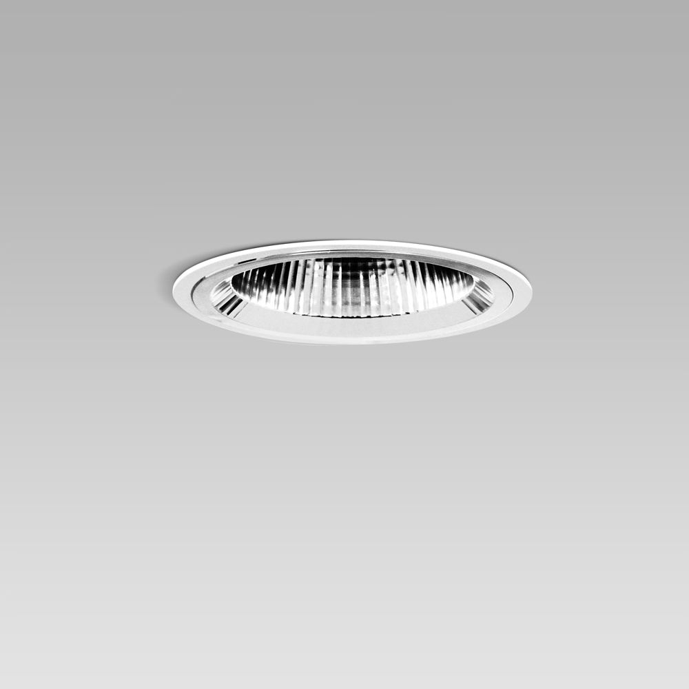 recessed downlight for a functional and decorative lighting of interiors, without glass and with symmetric optic