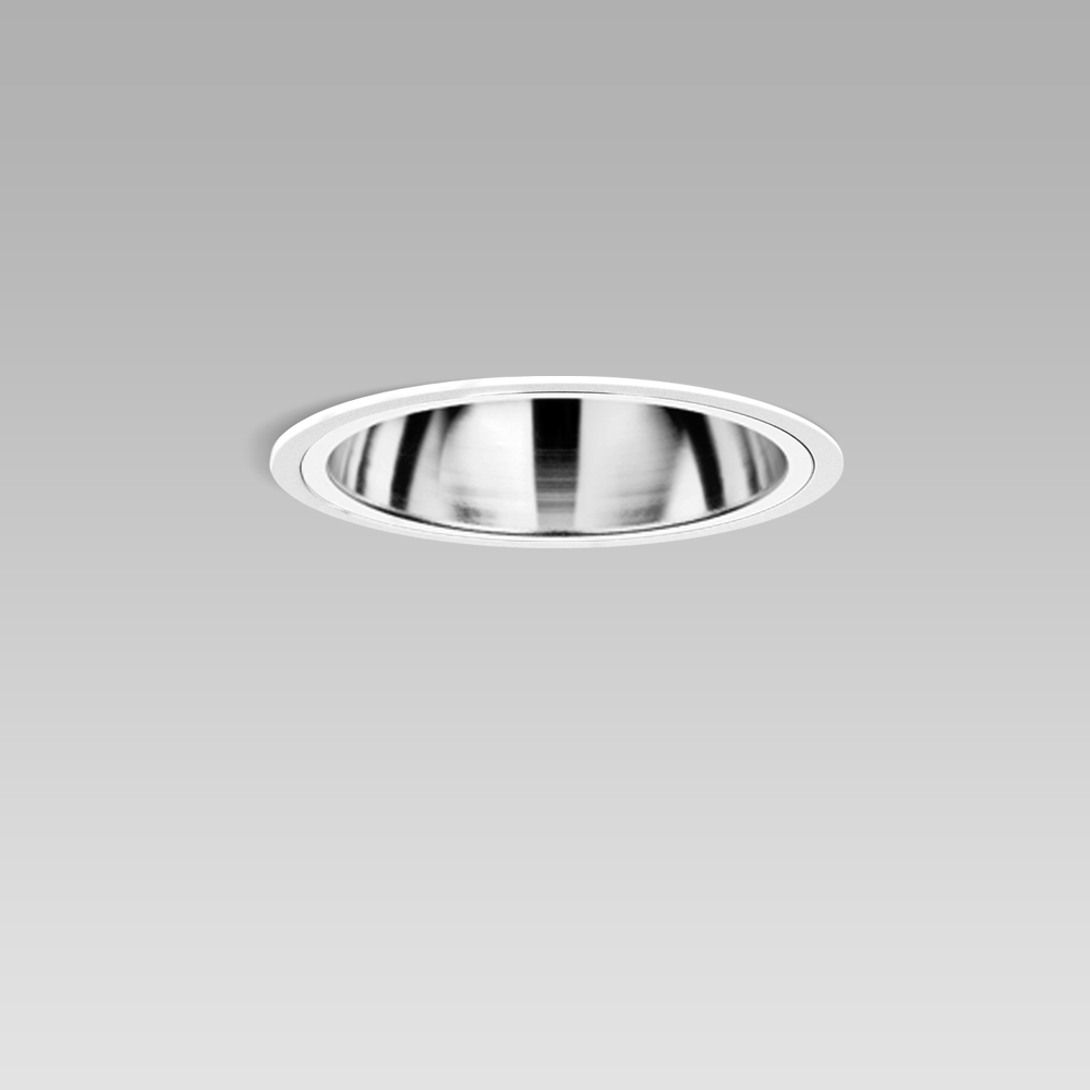 Luminaires encastrés  Ceiling recessed luminaire for indoor lighting with elegant round design and high visual comfort
