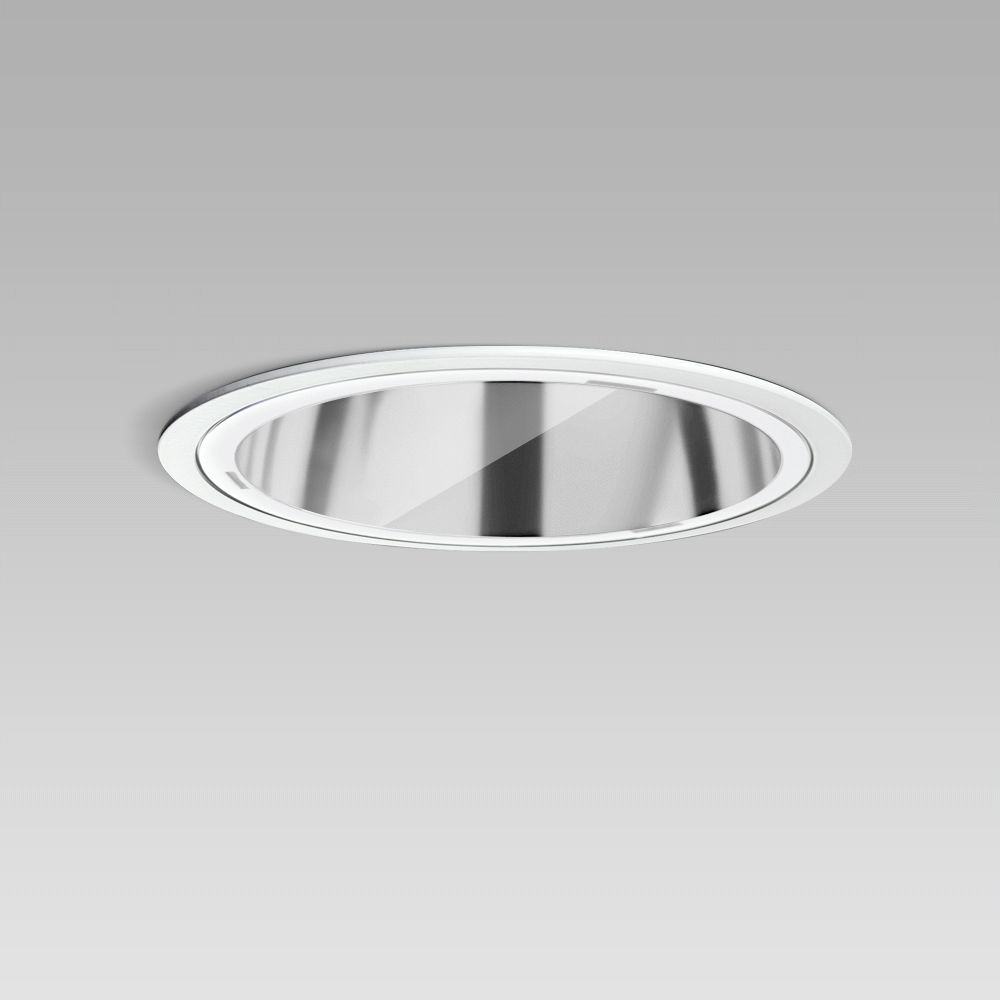Luminaires encastrés  Ceiling recessed luminaire for indoor lighting with elegant round design, requiring a short installation depth