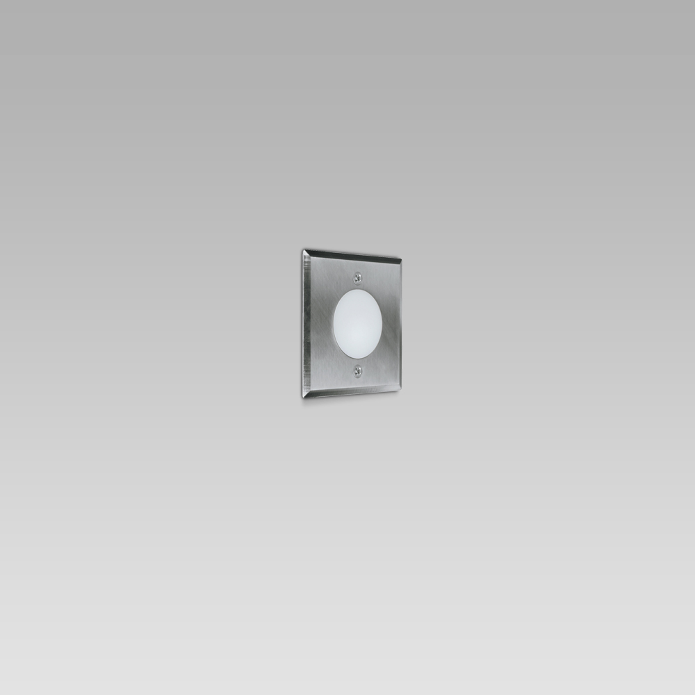 Recessed wall luminaires  Wall recessed light fixture for indoor and outdoor lighting, featuring a simple design
