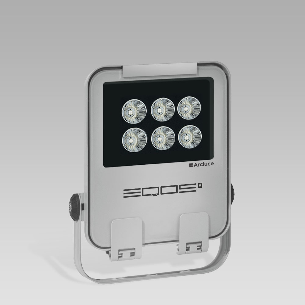 Outdoor floodlights  LED floodlight for outdoor lighting EQOS0: modern design and excellent light output
