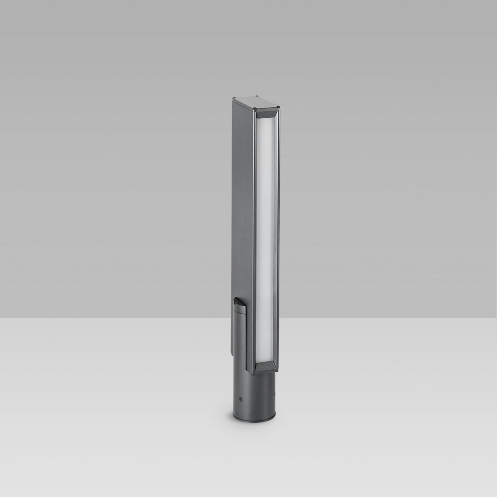 Bollard lights Bollard light for outdoor lighting with a geometric design and monodirctional optic for a precise lighting with high visual comfort