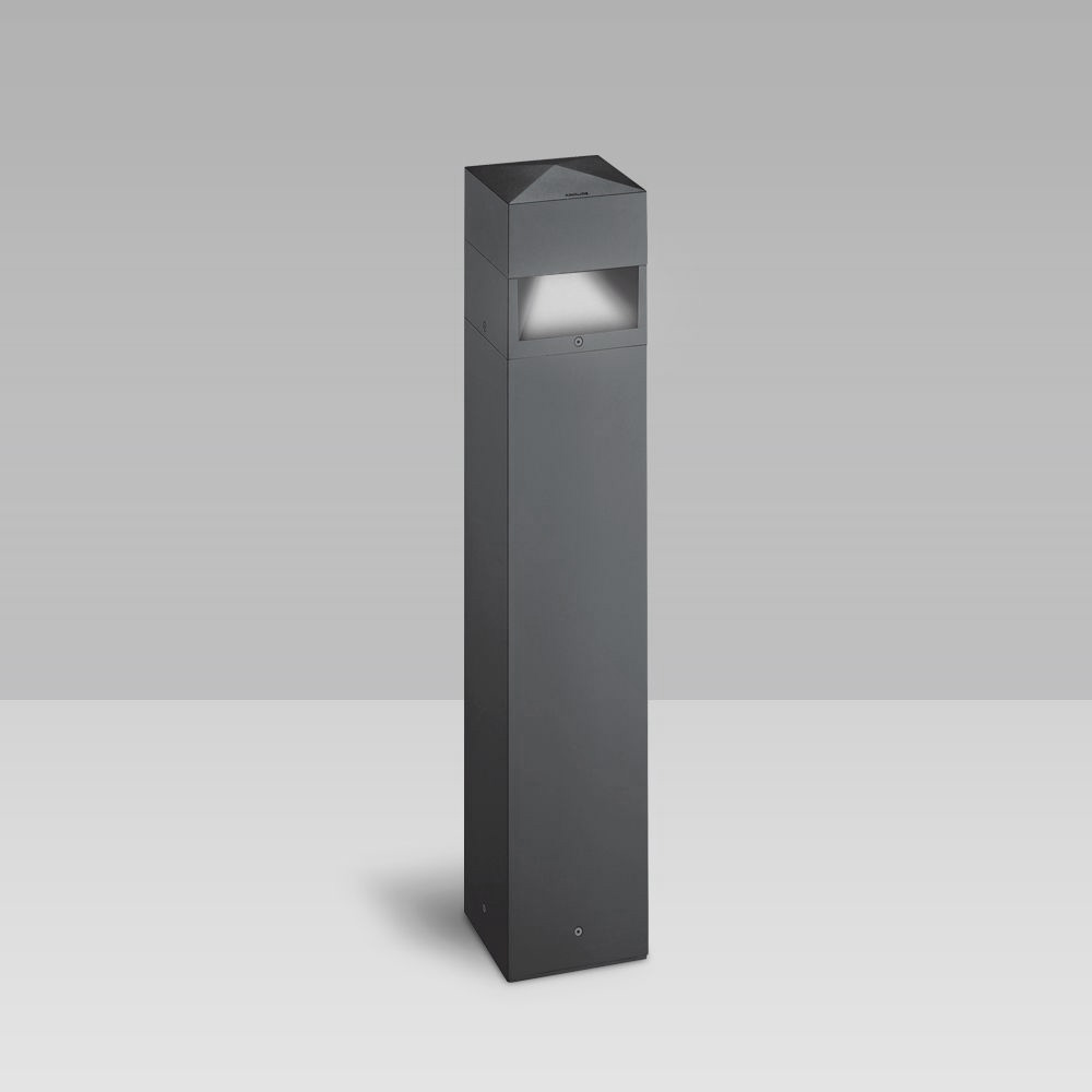 Bollard lights Bollard light with an elegant geometrical design for the illumination of gardens, parks, pedestrian and urban areas