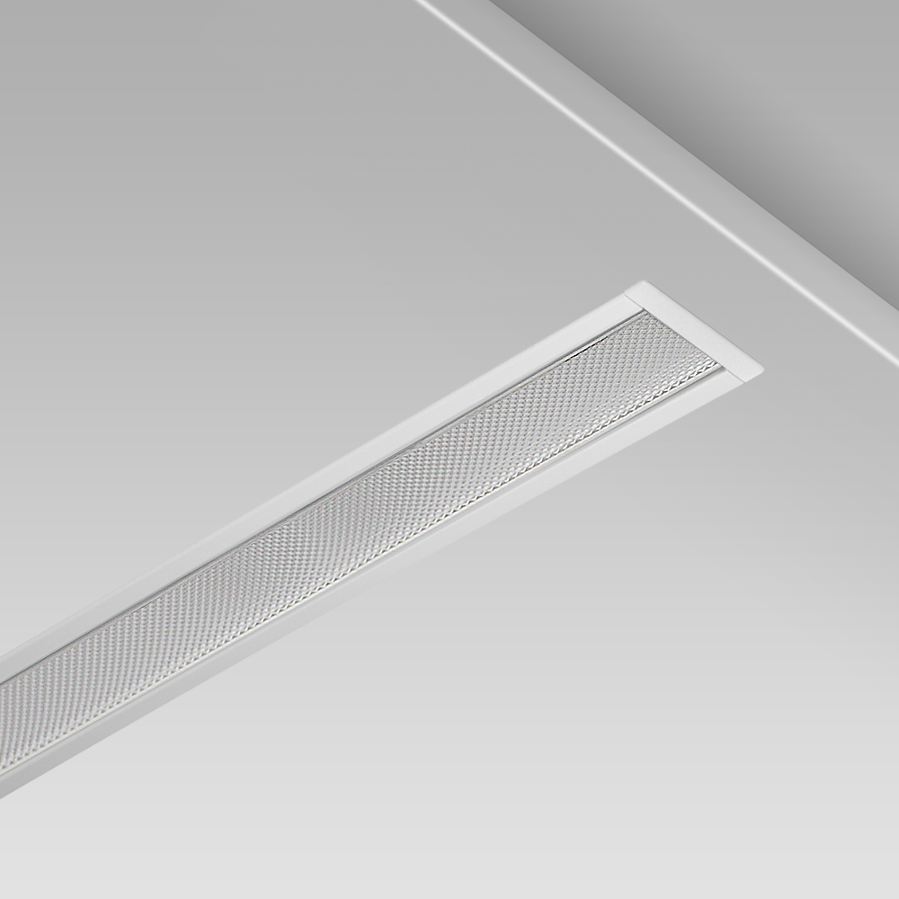 Recessed ceiling downlight for indoor lighting with a linear design, minimalist and sophisticated