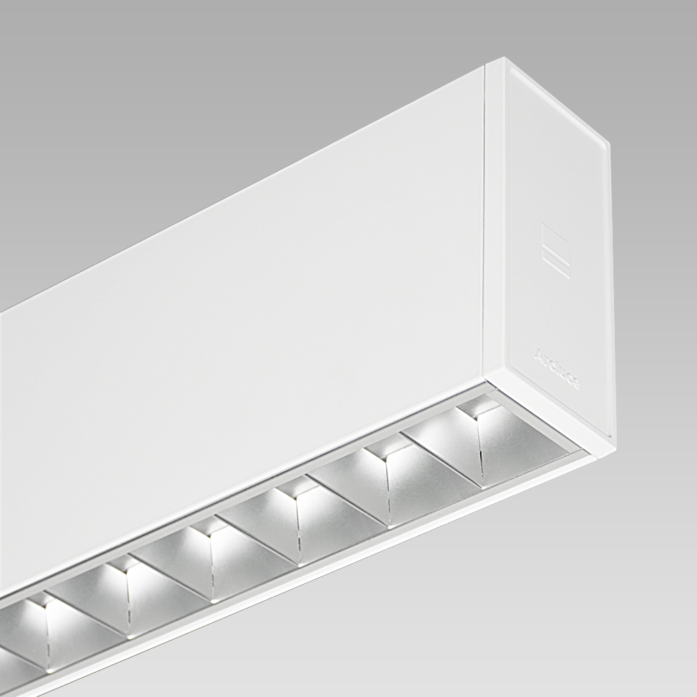 Modular lighting systems Elegant modular lighting system for indoor lighting, available in ceiling-mounted and suspended versions