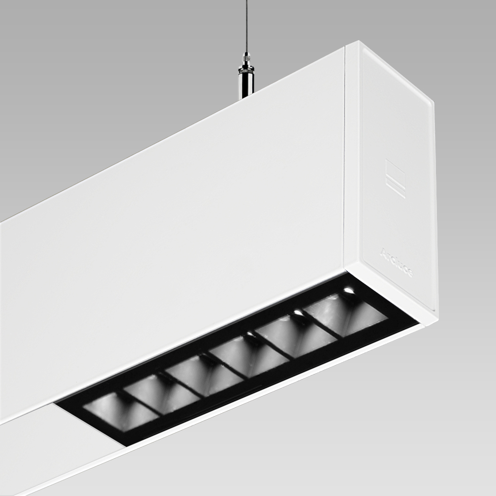 RIGO51, the design suspended linear downlight for the illumination of modern and sophisticated interiors