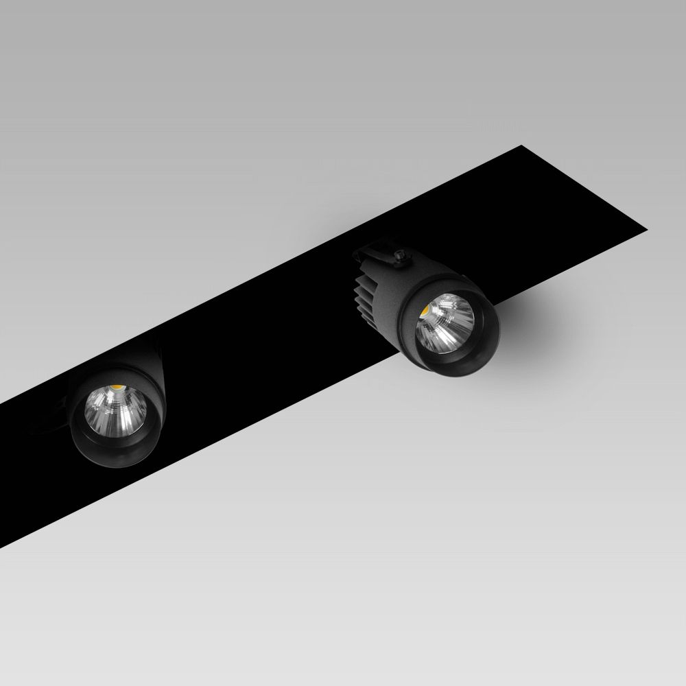 Modular lighting systems Recessed modular lighting system with adjustable spotlights for indoor lighting