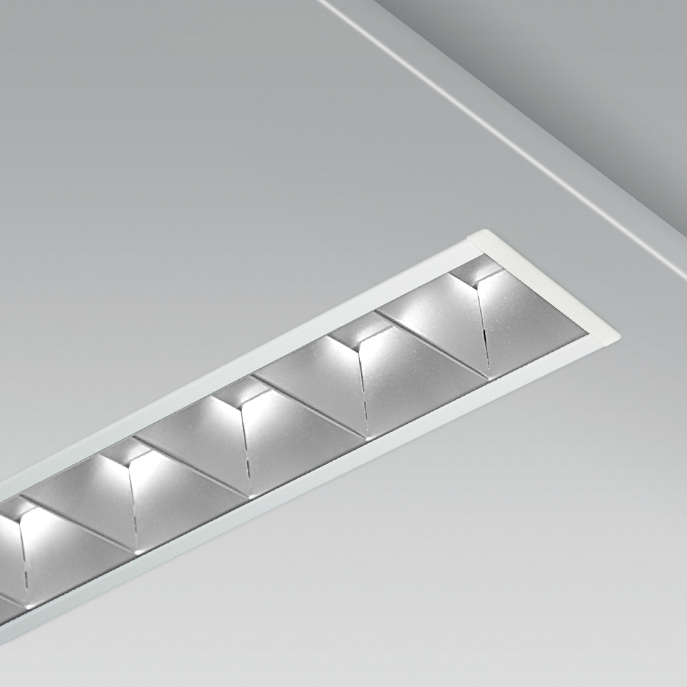 Modular lighting systems Recessed modular lighting system with a linear, elegant design for indoor lighting